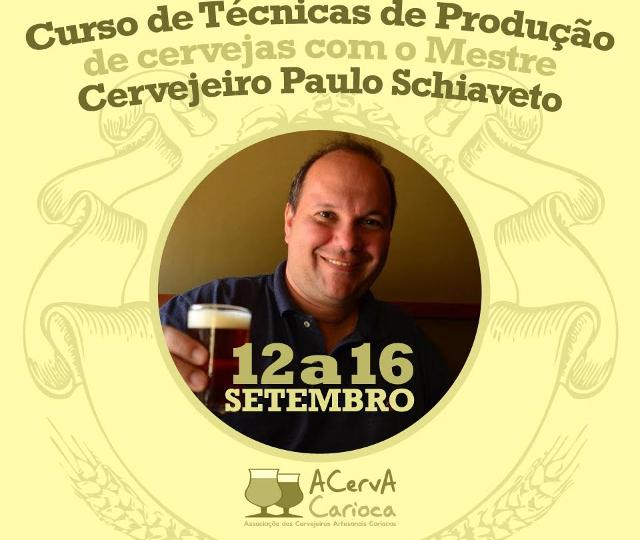 Curso de Técnicas de Produção de Cervejas com o Mestre Cervejeiro Paulo Schiaveto